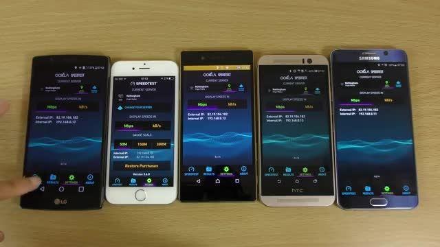 Iphone 6s vs Note 5 vs Xperia Z5 vs M9 vs G4_Internet
