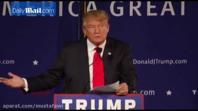 صحبت های جدید دونالد ترامپ
