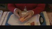 درست کردن میوه به شکل قو
