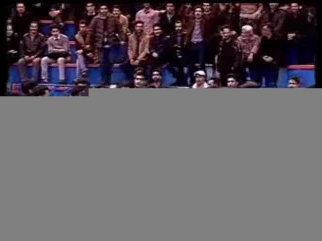 درگیری دانشجویان در حضور روحانی در دانشگاه شریف