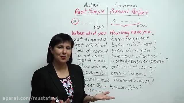 آموزش گرامر زبان انگلیسی (تفاوت گذشته ساده و حال کامل)3
