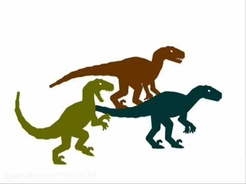 نبرد دایناسور ها : ولوسی راپتور vs تریزینوساروس