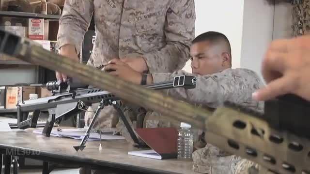 آموزش تک تیراندازی با سلاح Barrett M107