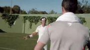 مسابقه تنیس و فوتبال