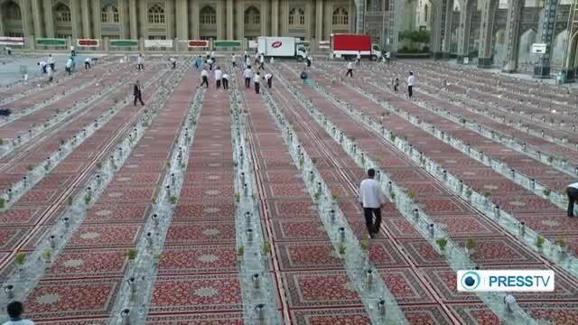 بزرگ ترین سفره ی افطار در مشهد مقدس