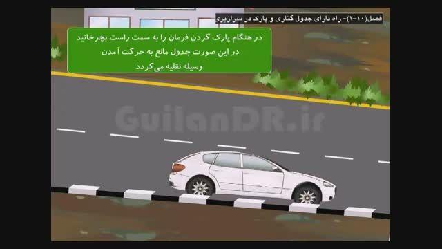 نحوه استقرار و استفاده از اتومبیل،توقف در سطح شیبدار