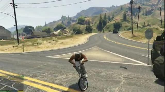 مسخره بازی با دوچرخه در gta v pc
