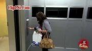 دوربین مخفی خنده دار اسکی د آسانسور