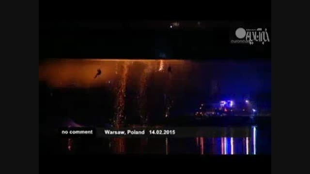 پل چوبی در آتش سوخت!!!