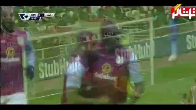 خلاصه بازی : ساندرلند 4 - 0 استون ویلا ( ویدیو )