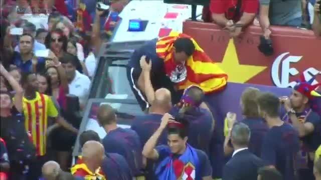 عصبانیت ژاوی از نیمار در جشن قهرمانی بارسلونا