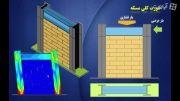 بررسی دیوار آجری با قاب فلزی به روش Dynamic Explicit