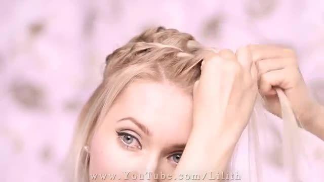 Everyday hairstyle for medium long hair