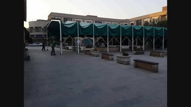 سایبان متحرک سبزه میدان تهران