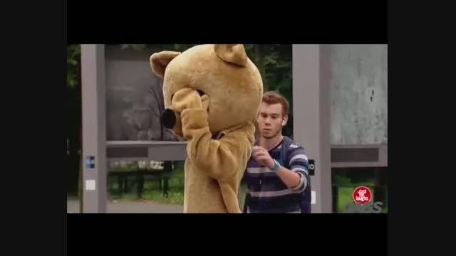دوربین مخفی  خنده دار شکار خرس!!