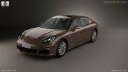 جدیدترین پورشه پانامرا - Porsche Panamera S 2014 by 3D model