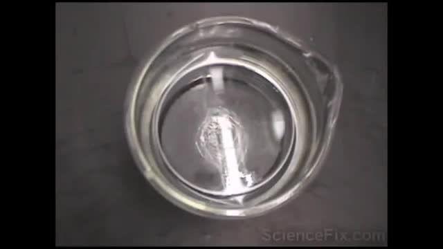 واکنش فلزات قلیایی با اب