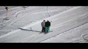 هیجان دیدنی پرواز در آسمان با اسکی
