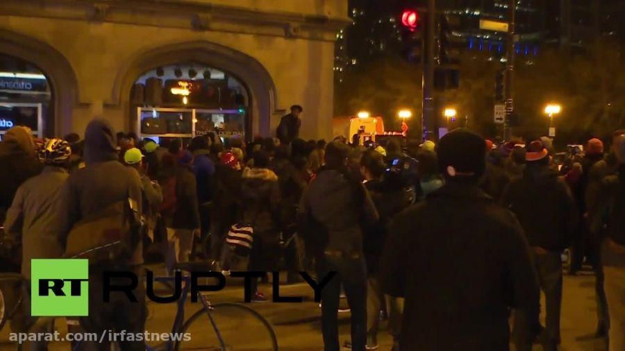تظاهرات مردم در اعتراض به کشتن نوجوان سیاهپوست آمریکایی