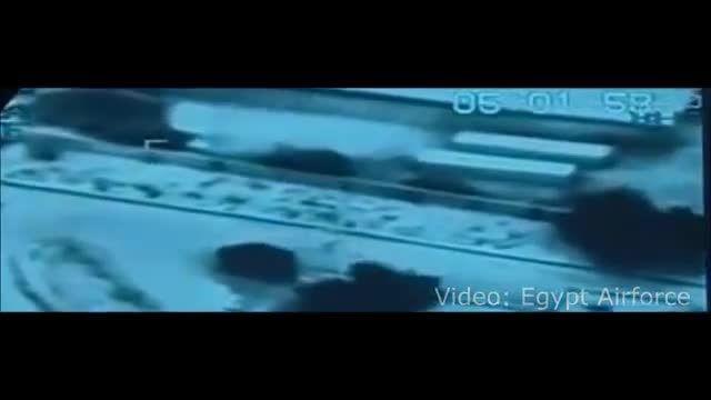 حمله جنگنده های مصری به مواضع داعش در لیبی