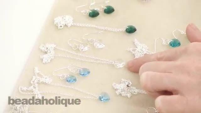 راهنمای ساخت جواهرات قلب بلورین
