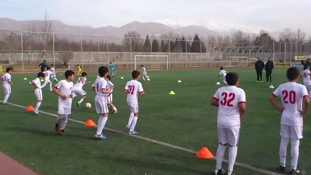 اردوی تیم فوتبال زیر 11سال دانش آموزی زیر نظر مهدوی کیا