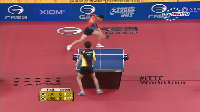 پینگ پنگ مردان:جونگ VS جوو (فینال اوپن کره جنوبی 2015 )
