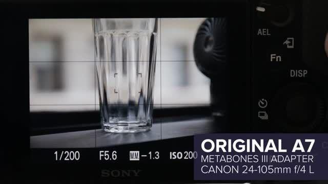 فوکوس دوربین سونی a7r II با لنز های کانن