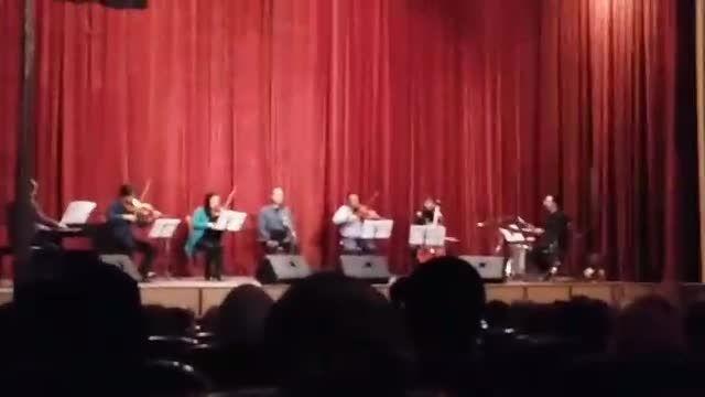حضور میثم مروستی در کنسرت همدان علیرضا قربانی