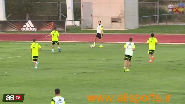 واکنش بی نظر کاسیاس در تمرین تیم ملی اسپانیا
