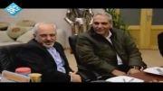 ظریف و مهران مدیری در پشت صحنه سریال