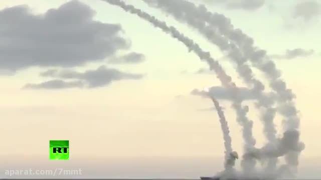 شلیک موشک کروز از دریای مازندارن به سمت تروریست ها