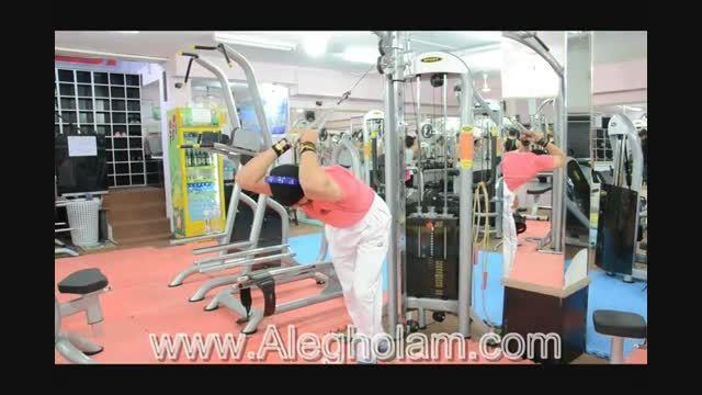 آموزش حرکت پشت بازو با طناب 2-آل غلام
