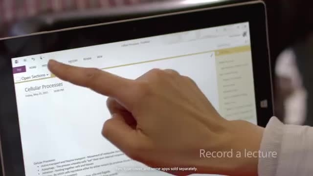 Surface: Record a lecture and take notes