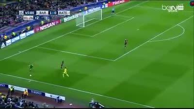حرکت عجیب و خطرناک ترشتگن در بازی بارسلونا و باته
