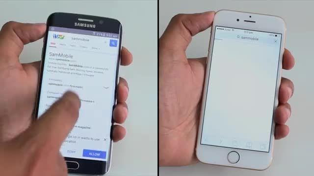 مقایسه گوشی آیفون 6 باگلکسی S6 EDGE