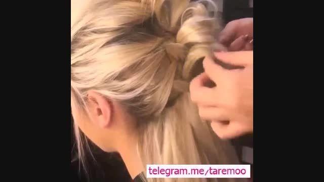 آموزش آرایش بافت مو زیبا در تارمو