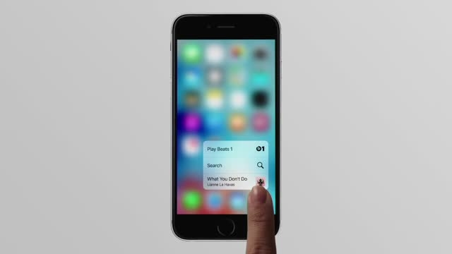 Apple Brings 3D Touch Feature To The iPhone 6s