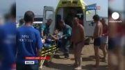 حمله کوسه در آبهای سرد روسیه !!!