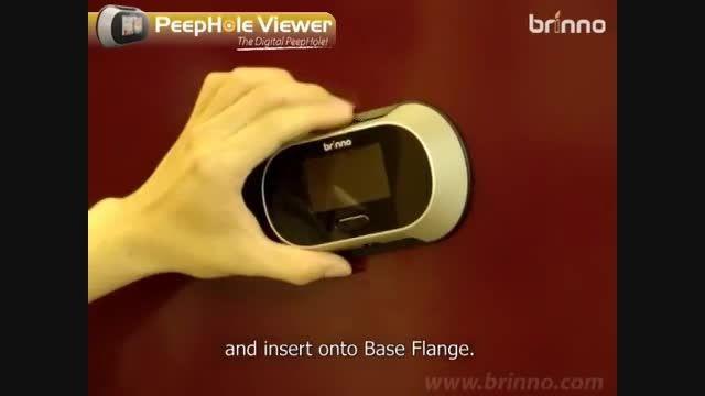 فیلم آموزشی نحوه نصب چشمی دیجیتال بر روی درب