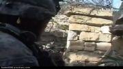 نبرد نیروهای آمریكایی و افغان با چریك های طالبان