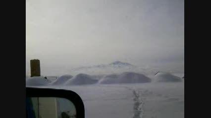 جاده برفی اردبیل و قله سبلان