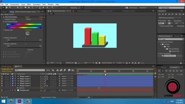 آموزش ساخت و انیمیت نمودار های سه بعدی در افترافکت