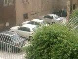 تگرگ شدید که قزوین را سفید پوش کرد!!!