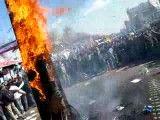 قسمت4 - آتش زدن ابلیسک در 22 بهمن سال 1390 در تهران میدان استادمعین