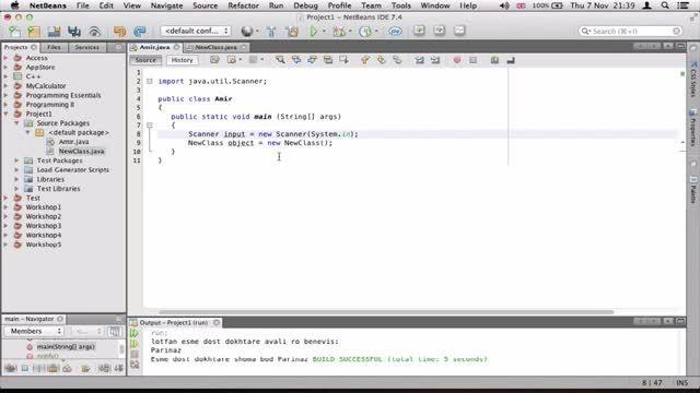 ۱۴- درست کردن Constructors در جاوا Java