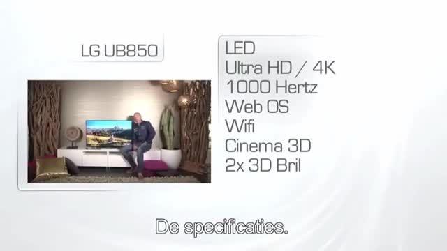 تلویزیون ال ای دی سه بعدی اسمارت فورکای ال جی  ub850