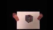 مکعب سه بعدی.خطای دید