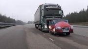 تست ترمز کامیون های جدید FH و Volvo