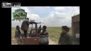 سوریه- ناپدید شدن گروهی از تروریست های سوری بر اثر اصابت گلوله تانک ارتش سوریه